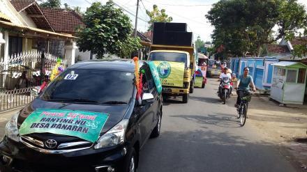 Ranting NU Desa Banaran Ramaikan Pawai Ta'aruf 2018